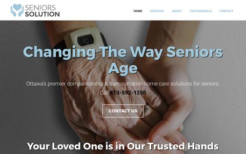 Screenshot of Home Page seniors-solution.com - Home | Seniors Solution | Ottawa, ON - captured June 11, 2017