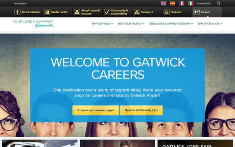 Screenshot of Jobs Page gatwickairport.com - Careers | Gatwick Airport - captured Nov. 2, 2017