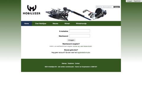 Screenshot of Login Page mobilijzer.nl - Mobilijzer - captured Oct. 9, 2014