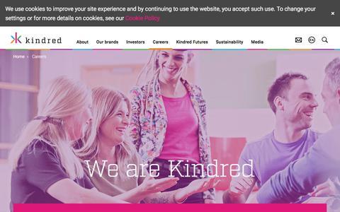 Screenshot of Jobs Page kindredgroup.com - Kindred plc  - Careers - captured June 9, 2017