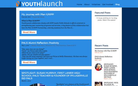 Screenshot of Blog youthlaunch.org - youthlaunch | Blog - captured Sept. 21, 2018