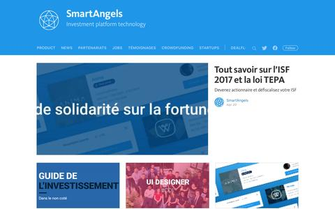 Screenshot of Blog smartangels.fr - SmartAngels - captured May 15, 2017