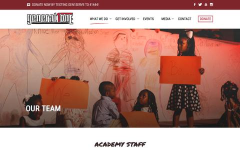 Screenshot of Team Page generationone.net - Our Team | Generation One - captured Jan. 27, 2016