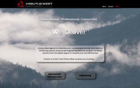 Screenshot of Home Page arbutuswest.com - Arbutus West Agency Ltd   Vancouver - captured Oct. 8, 2017