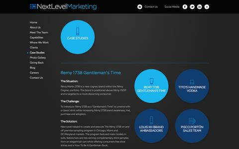 Screenshot of Case Studies Page nextlevel-co.com - Case Studies - Next Level Marketing - captured Oct. 6, 2014