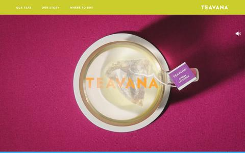 Screenshot of Home Page teavana.com - Teavana - captured June 21, 2019