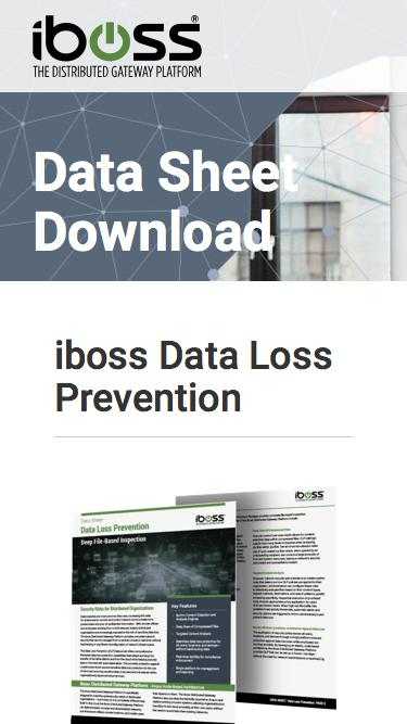 Data Loss Prevention data sheet