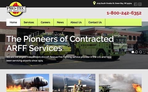Screenshot of Home Page protecfire.com - Home - Pro-Tec Fire Services, Ltd - captured Nov. 12, 2016