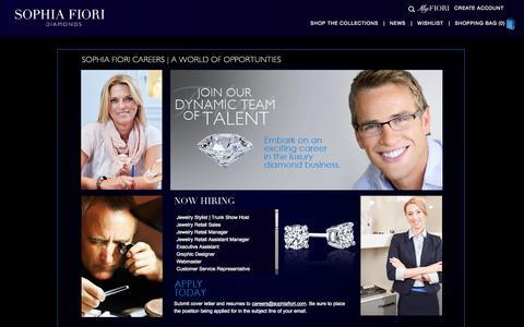 Screenshot of Jobs Page sophiafiori.com - Sophia Fiori   Careers - captured Oct. 2, 2014