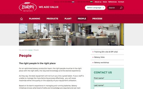 Screenshot of Team Page bakery-initiatives.com - Bakery management & training - We hire or train the right people - captured Sept. 30, 2014