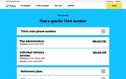 Phone Directory: Contact Us   TIAA
