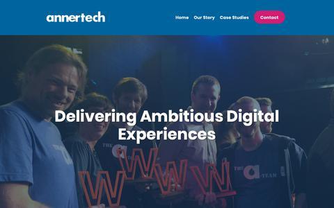 Screenshot of Home Page annertech.com - Delivering Ambitious Digital Experiences | Annertech - captured Jan. 27, 2019