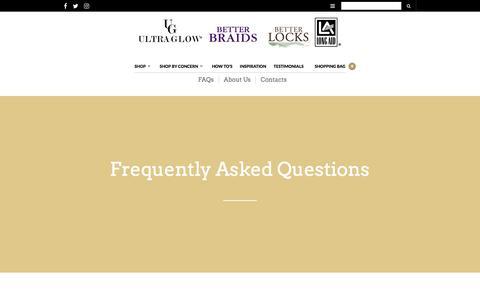 Screenshot of FAQ Page keystone-labs.com - FAQs – Keystone Laboratories - captured Oct. 17, 2017
