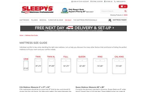 Mattress Sizes - Sleepy's