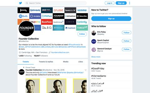 Tweets by Founder Collective (@fcollective) – Twitter