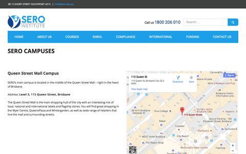 Screenshot of Locations Page brisbanecollege.edu.au - LOCATIONS – Sero Institute - captured Nov. 23, 2016