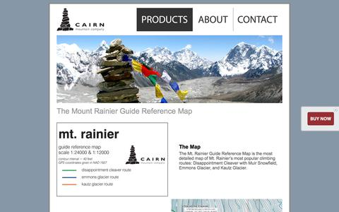 Screenshot of Products Page cairnmtnco.com - Cairn Mountain Company | Products - captured Oct. 1, 2014