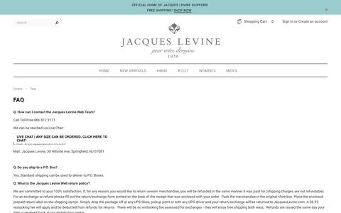 Screenshot of FAQ Page jacqueslevine.com - FAQ – Jacques Levine - captured Nov. 28, 2016