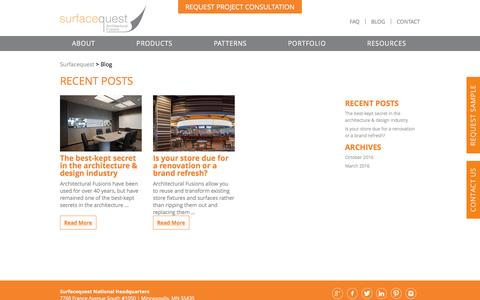 Screenshot of Blog surfacequest.com - Surfacequest Blog, Architectural Design & Building Renovation at Surfacequest - captured Dec. 13, 2016