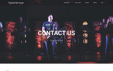 Screenshot of Contact Page xchurch.tv - Xperience Church - captured Feb. 1, 2016
