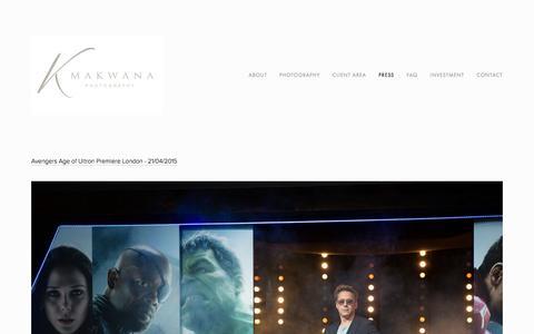 Screenshot of Press Page kmakwanaphotography.com - Press Photography — K Makwana Photography - captured July 14, 2016