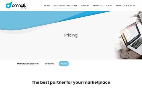 Screenshot of Pricing Page omnyfy.com - Omnyfy     Pricing - captured Nov. 2, 2018