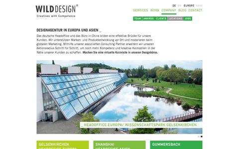 Screenshot of Locations Page wilddesign.de - Standorte von Designbüros und Agenturen | WILDDESIGN - captured Oct. 26, 2014