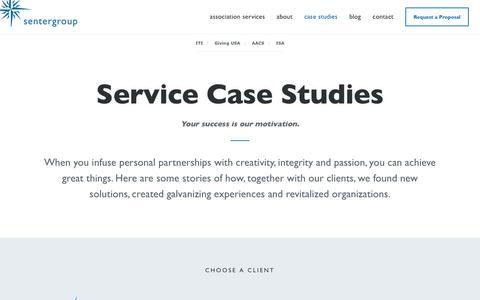 Screenshot of Case Studies Page thesentergroup.com - Case Studies - Association Management | Sentergroup - captured Oct. 27, 2017