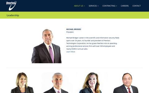 Screenshot of Team Page epeerless.com - Leadership – Peerless Technologies - captured Oct. 30, 2016