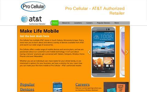 Screenshot of Jobs Page procellular.net - procellular - captured July 24, 2015