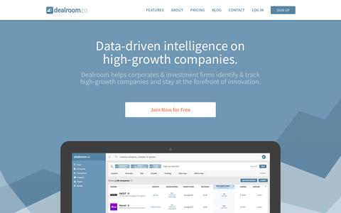 Screenshot of Home Page dealroom.co - Dealroom.co   Data-driven insights on high-growth companies - captured Oct. 12, 2017