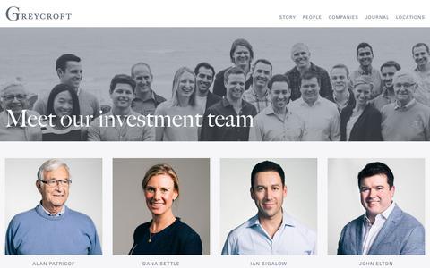 Screenshot of Team Page greycroft.com - Our People - Greycroft Partners - captured June 3, 2017