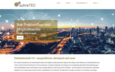 Screenshot of Home Page suhretec.ch - Home - captured Oct. 20, 2018