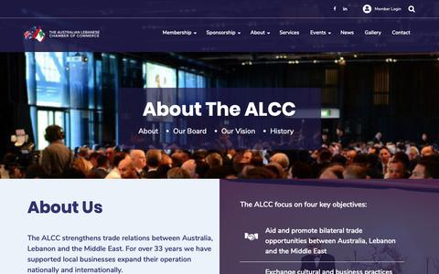 Screenshot of About Page alcc.com.au - About - The Australian Lebanese Chamber of Commerce - captured Nov. 15, 2018