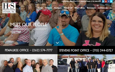 Screenshot of Team Page hsprotection.net - Meet Our People • Milwaukee, WI • H&S Protection Systems, Inc. - captured Sept. 25, 2018