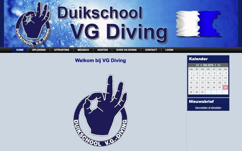Screenshot of Home Page vgdiving.nl - Home - captured Oct. 27, 2018