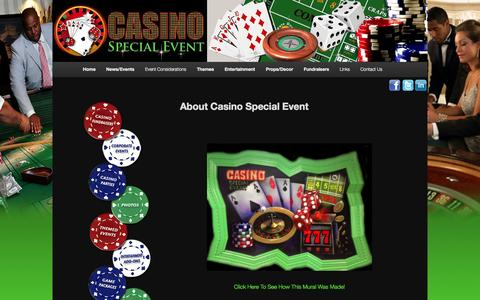 Screenshot of Home Page About Page casinospecialevent.com - About Our Company - Casino Special EventCasino Special Event | Call For Your Free Quote : 1-973-773-0954 - captured Sept. 29, 2014