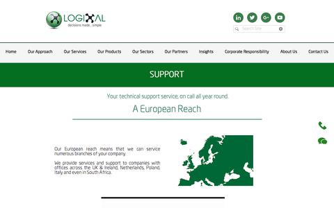 Screenshot of Support Page logixal.co.uk - IT & Print Service & Support | Greater London | Logixal - captured July 22, 2018