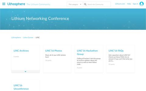 Lithium Networking Conference - Lithosphere