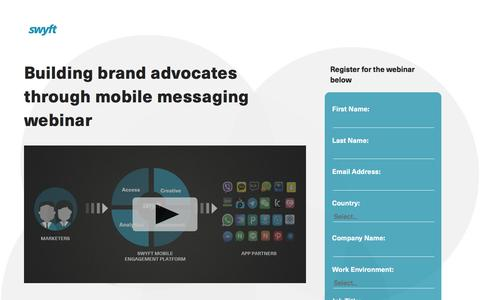 Screenshot of Landing Page monotype.com - Swyft Webinar: Building Brand Advocates with Messaging Apps - captured Feb. 5, 2017
