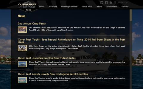 Screenshot of Press Page outerreefyachts.com - Outer Reef Yachts: News - captured Sept. 30, 2014