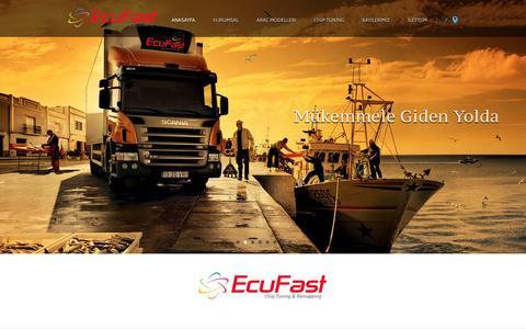 Screenshot of Home Page ecufast.com.tr - ECUFAST   Chip Tuning Performans Ve Ekonomi Yazılımları - captured Dec. 7, 2015