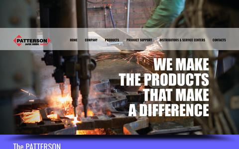 Screenshot of Home Page pattersonmfg.com - Patterson Manufacturing | - captured Sept. 27, 2018