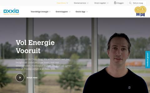 Screenshot of Blog oxxio.nl - Blog Vol Energie Vooruit – werken aan verbetering | Oxxio - captured Sept. 20, 2018
