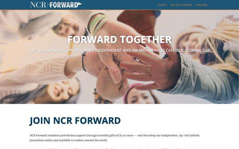 Screenshot of Signup Page ncronline.org - Join NCR Forward | National Catholic Reporter - captured Oct. 18, 2018