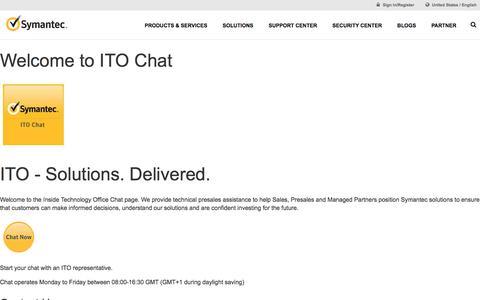 Ito-Chat | Symantec
