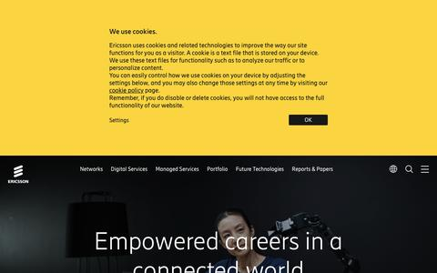 Screenshot of Jobs Page ericsson.com - Working Here | Careers | Ericsson - captured May 10, 2019