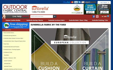 Screenshot of Home Page outdoorfabriccentral.com - Sunbrella Fabric by the Yard - Outdoor Fabric Central - captured Oct. 13, 2018