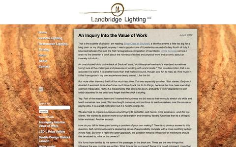 Screenshot of Press Page landbridgelighting.com - Landbridge Lighting News | Just another WordPress site - captured Sept. 30, 2014
