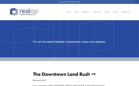 Screenshot of Press Page realopinvestments.com - PRESS — RealOp Investments - captured March 10, 2017